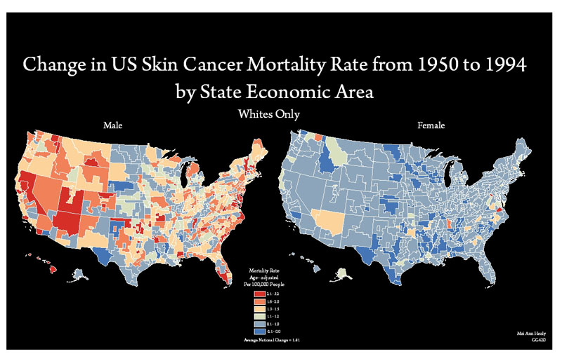 Student Name - Us cancer rate map